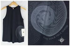 NWT! Lululemon Size 4 6 8 10 Nook Tank *Wanderlust - Heathered Black Pima Cotton