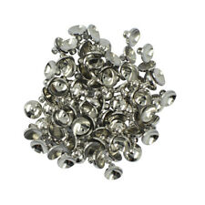 50pcs 6/8mm Blank Round Cup Cap for Gluing Ball Bead Bail Connectors Pendant