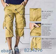 New Mens Casual Pants Baggy Shorts Fashion Working Cargo Trousers Shorts Outdoor
