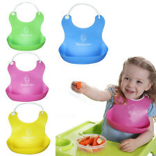 New Baby Infant Kids Silicone Bib Baby Lunch Waterproof Bibs Pick Rice Pocket