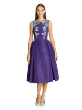 $5490  New Oscar de la Renta Purple Sleeveless Bateau-neck Embellished Dress 6