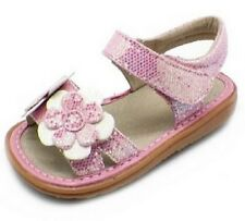 END OF SUMMER SALE Toddler Pink Sparkle Leather Sandals Shoes See Sizes NIB