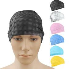 New Unisex Waterproof Flexible PU Swimming Cap Swim Hat