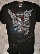NWT Harley Davidson Mens XL Black *Eagle Star* Ringspun Tee Shirt