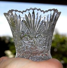 Crystal Relish Glass, Vase or Votive Candle Holder Rose & Star Design 1 Cup Size