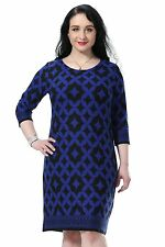 Chicwe Womens Printed Cashmere Touch Plus Size Dress