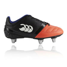 Canterbury Phoenix Club 6 Junior Orange Black Studs Rugby Sports Boots