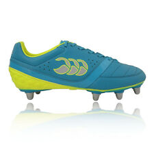 Canterbury Phoenix Club 8 Mens Yellow Blue Studs Rugby Boots Sports Shoes