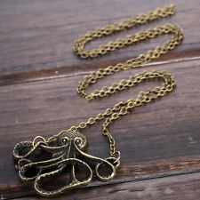 Vintage Octopus Pendant Necklace Women Fashion Jewelry Clavicle Chain E11