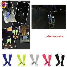 Cycling Reflective Socks Compression Sock Sport Quick-dry Running Long Calf Sock