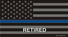 Retired Thin Blue Line Flag Reflective Decal