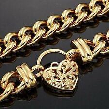 Euro 18ct Yellow Gold-Layered Filigree Heart Euro Chain Necklaces