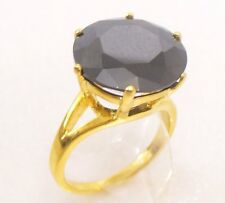 fashion1uk Solitaire Ring Simulated Diamond 24K Gold Plated L M N Engagement