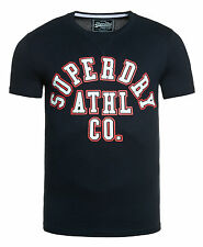 New Mens Superdry Classic Athl Entry- T-Shirt Rinse Navy
