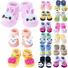 Cute Newborn Baby Boy Girl Anti-Slip Soft Sole Shoes Cartoon Slipper Socks Boots