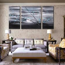 3pcs Modern Hand Painted Modern Abstract Oil Painting On Canvas Wall Decor Q9B7
