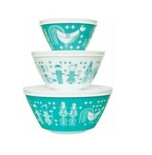 Vintage Charm Inspired by Pyrex 6-Piece Mixing Bowl Set Compact Storage