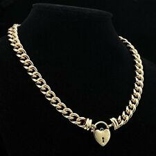Euro 18ct Yellow Gold-Layered Plain Heart Euro Chain Necklaces