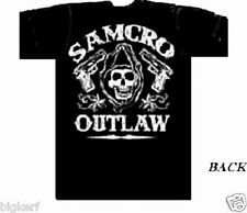 "SONS OF ANARCHY  ""OUTLAW  GRIM REAPER""  BIKER ROADGEAR  SAMCRO  T-SHIRT - SMALL"