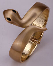 Snake bangle bracelet matte antique gold silver plated jewelry gifts FT37