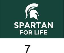 Michigan State Spartans cornhole board decal 1 set (2 decals)