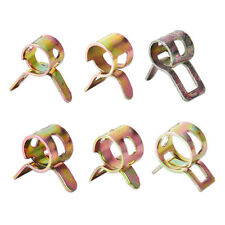10 x Spring Clip Fuel Vacuum Hose Line Silicone Pipe Tube Band Clamps Fastener