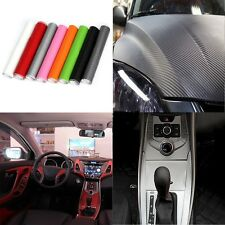 200x20cm DIY 3D Carbon Fiber Vinyl Wrap Roll Film Sticker Car Decor Decal Sheet