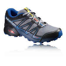Salomon Speedcross Vario Mens Grey Blue Trail Running Sports Shoes Trainers