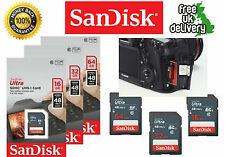 100%GENUINE SanDisk SD Card 16/32/64GB 48mb/s SDHC Class 10 Ultra Black Edition