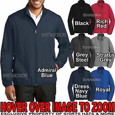 Mens Full Zip Jacket Windbreaker Water Resistant Golf XS-XL, 2XL, 3XL, 4XL NEW!