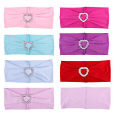 New 10Pcs Wedding Heart Organza Chair Cover Sashes Sash Party Banquet Decor Bow