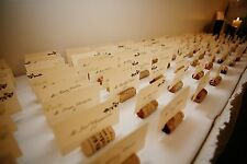 Wedding Placecards and Real Split Wine Cork / Placecard Holder (with groove)