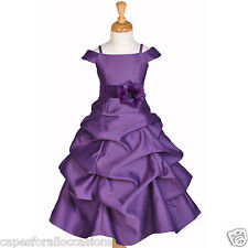 MULTI-COLOR FLOWER GIRL DRESS SPAGHETTI STRAP CAP SLEEVE 2 2T 4 5 6 7 8 10 12 14