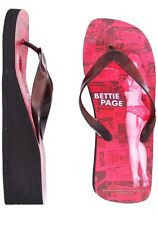 Sourpuss Bettie Page Flip Flops Red News Paper Spread Print with Bettie Page