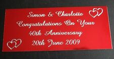 ENGRAVED RED TROPHY AWARD PLAQUE 89 x 38MM PLATE PICTURE FILMCELLS SELF ADHESIVE