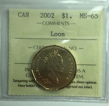 2002 Canadian One Dollar Coin ICCS Graded MS-65 Loon
