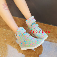 Ladies Ankle Wedge Platform women Boots women shoes Sneakers Casual Hi Top Shoes