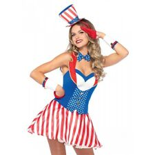 Patriotic Costume Adult 4th of July Halloween Fancy Dress