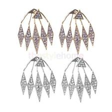 Fashion Women Lady Elegant Crystal Rhinestone Cuff Ear Stud Earrings Jewelery