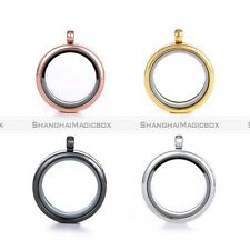 5pcs Floating Charm Living Memory Glass Round Locket Necklace Charms Pendant S8