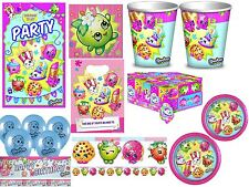 Shopkins Party Tableware Sets 8 or 16 Birthday Plates Cups Napkins