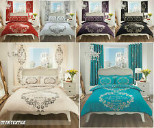 Script Duvet Cover Quilt Cover With Pillowcases Bedding Set Single Double & King