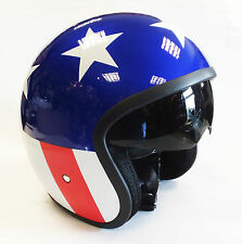 VIPER RS-V06 OPEN FACE SCOOTER MOTORCYCLE EASY RIDER USA STARS AND STRIPES