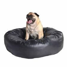 Faux Leather, Black Dog Bed, Zipp Off Cover, Soft Feel Fabric, Very Comfortable