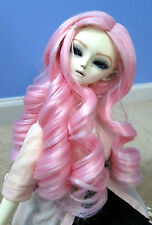 Doll Wig Giant Curls Light Pink BJD Ball Jointed Doll Size 7, 8, 9, 10 NEW