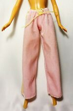 Barbie Doll Fashion Pink Velour Trousers with yellow stripe