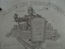 VINTAGE ATLANTIC LIFE INSURANCE CO. ADVERTISING SIGN - Double Sided