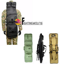 1M Tactical Army Airsoft Rifle Gun Bag Magazine Pouch Case with Shoulder Strap