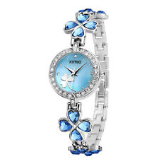 KIMIO Woman Crystal Quartz Bracelet Wristwatch Women's  Stainless Steel Watch