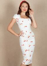 Stop Staring Pinup Cheesecake Red Strawberry White Pencil Dress USA Made 2X VLV